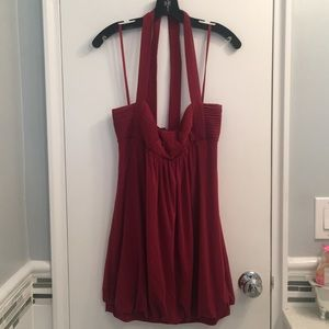 BCBG red halter bubble dress size Small